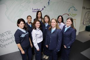 Some of our female driving team