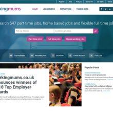 Workingmums.co.uk homepage